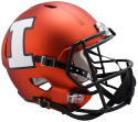 Illinois Fighting Illini College Deluxe Speed Replica Full Size Helmet by Riddel