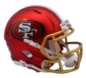 49ers mini BLAZE helmet