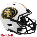 49ers Lunar Replica Speed Helmets