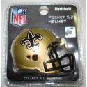 New Orleans Saints Revolution Pocket Pro Helmet by Riddell
