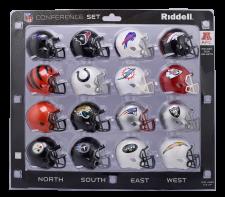 16 piece AFC Pocket Pro NFL Division Set by Riddell