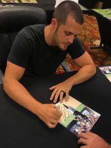 Autographed Derek Carr Photo