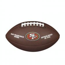 San Francisco 49ers Team Logo Composite NFL Football by Wilson
