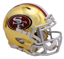49ers Chrome Helmet