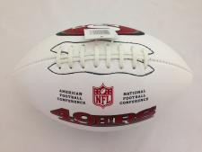 49ers Logo White Panel Football by Wilson