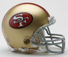 San Francisco 49ers 1964-95  Throwback Replica Mini Helmet by Riddell