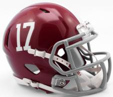 Alabama Crimson Tide #17 College Speed Helmet by Riddell - Login for SALE Price
