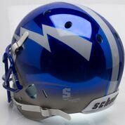 Chrome Air Force Football Helmet back