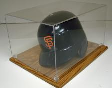Batting Helmet or Boxing Gloves Laminated Oak Display Case