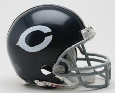 Chicago Bears 1962-73 w/Z2B Facemask Replica Mini Helmet by Riddell