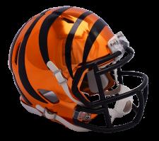 Bengals Chrome Mini Helmets