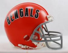 Cincinnati Bengals 1968-79 Throwback Replica Mini Helmet by Riddell