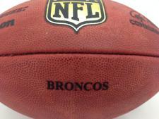 Team Issued NFL Game Footballs Broncos