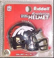 Denver Broncos Revolution Pocket Pro Helmet by Riddell