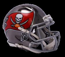 Buccaneers Chrome Mini Helmets