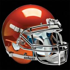 Burnt Orange Chrome Helmet