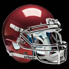 Cardinal Chrome Helmet