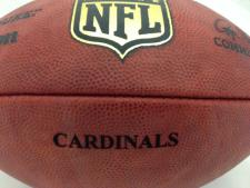 Team Issued NFL Game Footballs Cardinals