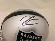 Derek Carr autographed mini helmet