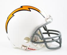 San Diego Chargers 1961-73 Replica Mini Helmet by Riddell with Z2B Mask