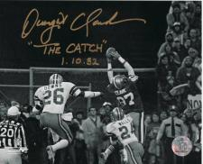 Dwight Clark The Catch Autographed Photo