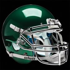Dark Green Chrome Helmet