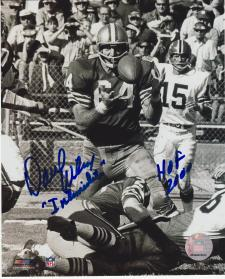 """Dave Wilcox 49ers Autographed 8x10 #281 signed with """"The Intimidator"""" and HOF 20"""
