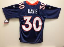 Terrell Davis Almost Authentic Broncos Jersey by Starter Navy size 48