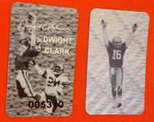 Joe Montana and Dwight Clark Hologram