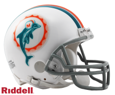 Miami Dolphins 1972 Throwback Replica Mini Helmet