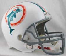 Miami Dolphins Helmet 1972 Throwback Deluxe Replica Full Size by Riddell