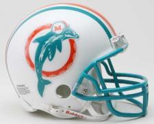 Miami Dolphins 1980-96 Throwback Replica Mini Helmet by Riddell