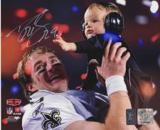 Drew Brees Autographed Photo New Orleans Saints 8x10 #312 Super Bowl Victory