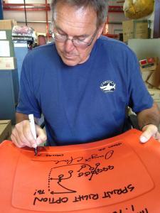 Dwight Clark Autographed Seatback