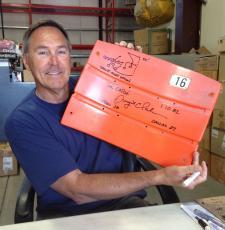 Dwight Clark Autographed Candlestick Park Seatback