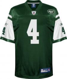 Brett Favre Authentic New York Jets Jersey by Reebok, Green, size 48