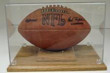 Football Laminated Oak Display Case Image