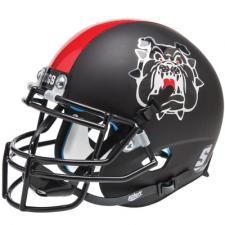 Fresno State Black Helmet  by Schutt