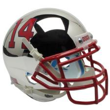 Fresno State Chrome Replica Full Size Helmet by Schutt