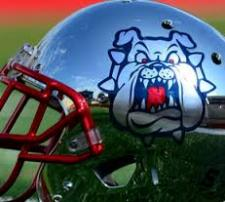 Chrome Fresno State Football helmet