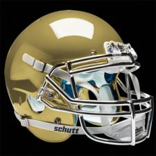 Gold Chrome Helmet