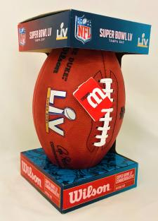 Super Bowl 55 Footballs Official Game Model by Wilson - Chiefs and Buccaneers Image
