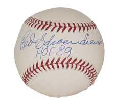 Red Shoendienst Autographed Baseball Rawlings Official National League (RON) sig