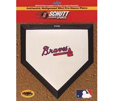Atlanta Braves Mini Home Plates by Schutt Image