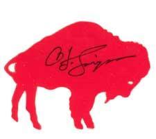 OJ Simpson Autographed Buffalo Bills Decal