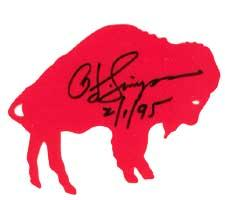 OJ Simpson Autographed decal