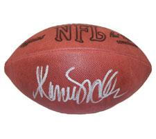 Marcus Allen Autographed Football NFL Tagliabue Game by Wilson