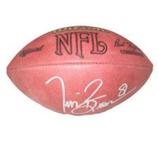 Tim Brown Autographed Official Tagliabue NFL Game Football