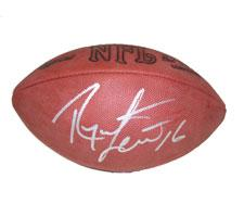 Ryan Leaf Autographed Official Tagliabue NFL Game Football Image