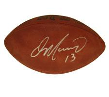 Dan Marino Autographed Football Official Tagliabue NFL Game Model